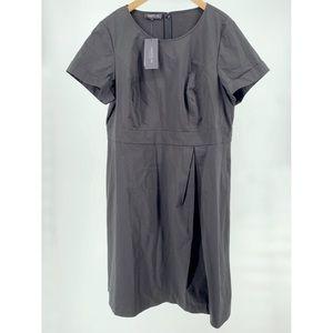 Lafayette 148 Deja Pleat Front Dress (Plus Size)